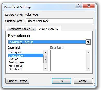 filtros de valor